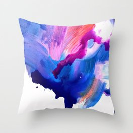 Danbury Abstract Watercolor Painting Throw Pillow