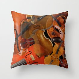 String Instruments 1 Throw Pillow