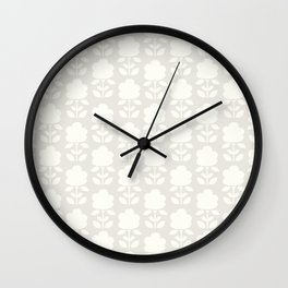 Cotton Clouds Pattern Wall Clock