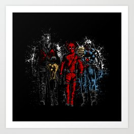 Violent Red Ninja Hero Art Print