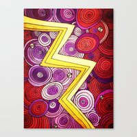 lightning Canvas Prints featuring Lightning by DuckyB