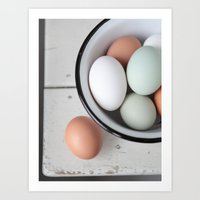 eggs Art Prints featuring Eggs by Schaepman & Habets