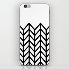 BLACK & WHITE LACE CHEVRON iPhone & iPod Skin