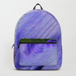 Blue Violet Iris Petal Close up Backpack