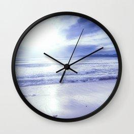 Serenity Beach Periwinkle Blue Wall Clock