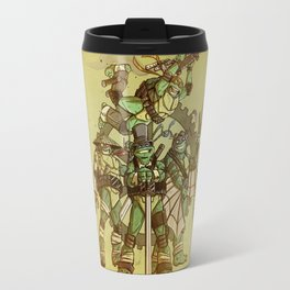 Steampunk Ninja Turtles Travel Mug