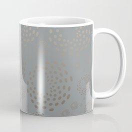 Geometric Round Abstract Hazelnut Circles On Pewter Gray Background Coffee Mug