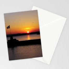 A beautiful sunset view of Lough Neagh Stationery Cards