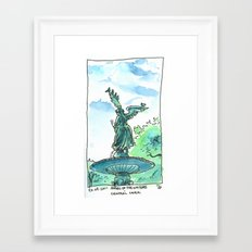 Angel of the waters - Central Park, New York Framed Art Print