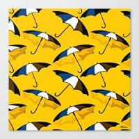 umbrella Canvas Prints featuring Umbrella  by Saundra Myles