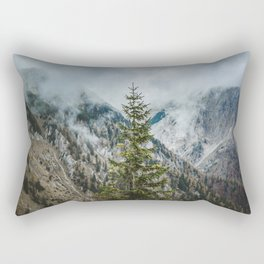 A Pine Tree Surrounded by Mountains in Austria. || Schneealpe, Österreich Rectangular Pillow