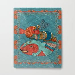 Fish Folk Metal Print