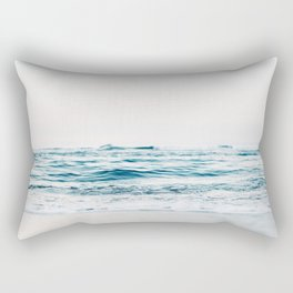 turquoise waves Rectangular Pillow