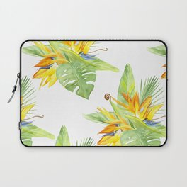 watercolor seamless pattern bird of paradise Laptop Sleeve