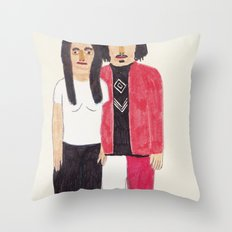 The White Stripes Throw Pillow