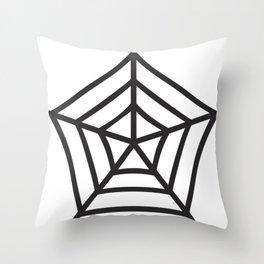 Spider Web Pattern Throw Pillow