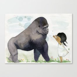 Hug me , Mr. Gorilla Canvas Print