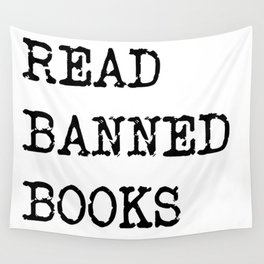 Read Banned Books Wall Tapestry