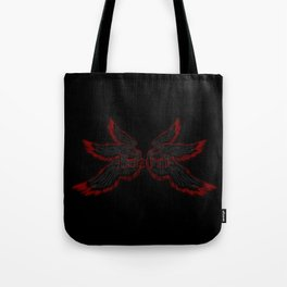 Archangel Lucifer with Wings Black Tote Bag