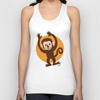 monkey island Tank Tops featuring Monkey by BATKEI