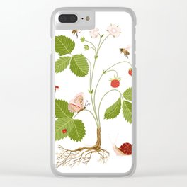 Wild Strawberries Clear iPhone Case