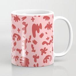 Red Cut Outs Pattern Coffee Mug