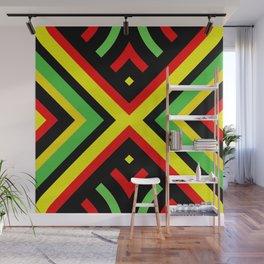 Jah Sun Always Rise Irie Reggae Mandala Wall Mural