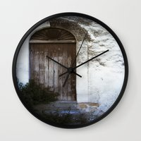 italian Wall Clocks featuring Italian Door by Maria Heyens