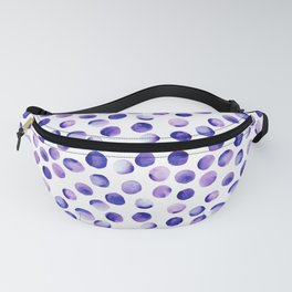 Watercolor Dots // Royal Purple Fanny Pack