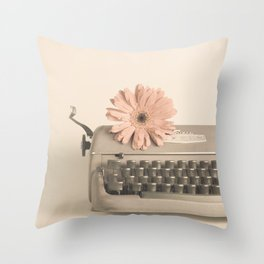 Soft Typewriter (Retro and Vintage Still Life Photography) Throw Pillow