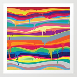 DRIPPING---COLOR Art Print