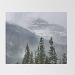 Misty Mountain Top Throw Blanket
