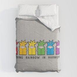 Reading Rainbow in Harmony Comforters