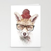 lady gaga Stationery Cards featuring It's pretty cold outside by Robert Farkas