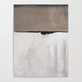 Greys, abstract minimalist Poster