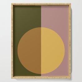 Color Block Abstract IX Serving Tray
