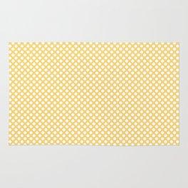 Lemon Drop and White Polka Dots Rug