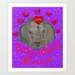 Happy Valentine! Art Print
