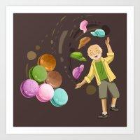 macarons Art Prints featuring Macarons by Lilian Darmono