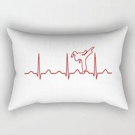 Karate Girl Heartbeat Rectangular Pillow