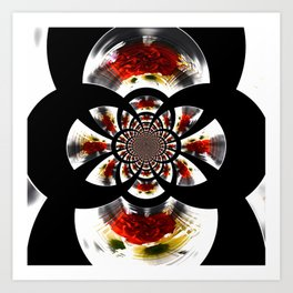 Mirror Image Abstract Art Print