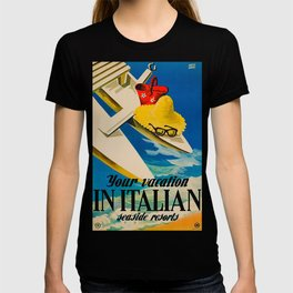 Vintage Italian Seaside Resorts Travel Ad T-shirt
