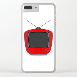 Old Television Set Clear iPhone Case
