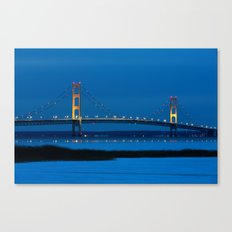 Mackinac Bridge at Blue Hour Canvas Print