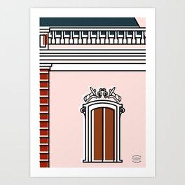 Palacio de Miraflores -Detail- Art Print