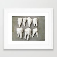 rooster teeth Framed Art Prints featuring Teeth by Erin Butcher