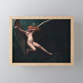 A Fairy Under Starry Skies by Luis Ricardo Falero Framed Mini Art Print