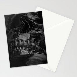 3D Data Mosh Skull - Black Wide Stationery Cards