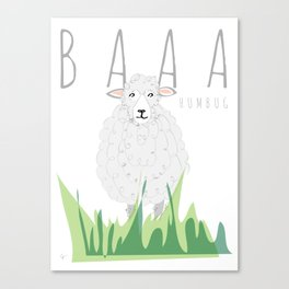 BAAA Humbug Sheep Canvas Print