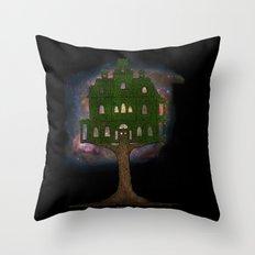Cosmos Tree House Throw Pillow